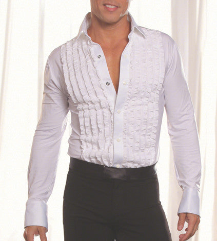 Dance America MS8 Tuxedo Ruffled Latin/Smooth Shirt