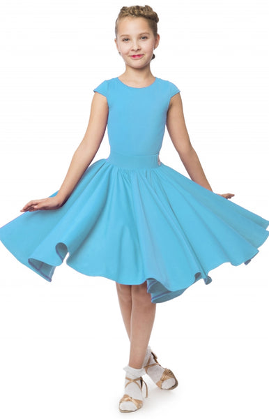 Stock Clearance Turquoise Sasuel Malvina Juvenile Girls Dress