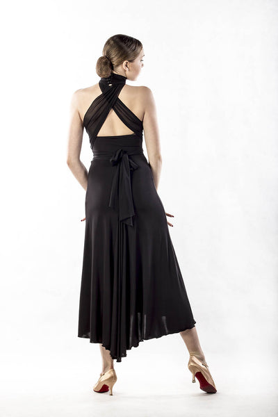 dancebox black tango and ballroom dress from dancewear for you australia
