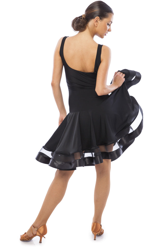 sasuel natalia latin dance dress with crinoline hemline from dancewear for you australia and nz dancesport dancewear