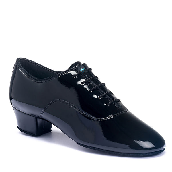 Mens Rumba Latin Shoe - Black Patent