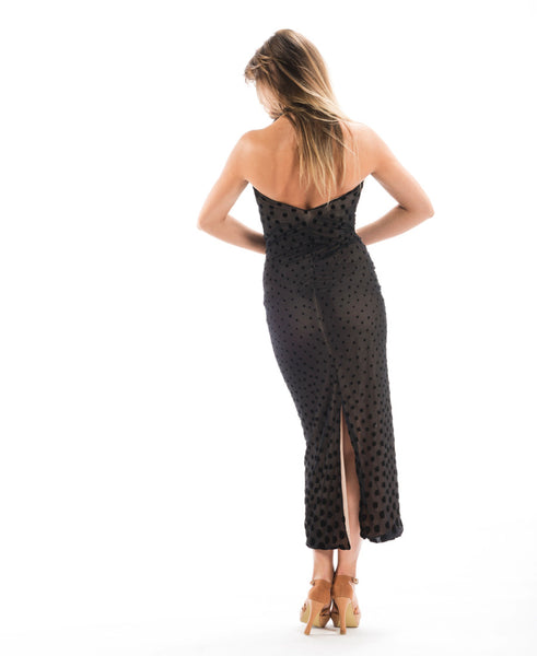 long straight latin and cocktail dress with cowl neckline and halter neck for latin dance from dancewear for you australia