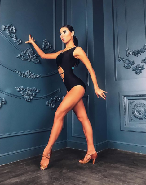Sexy and versatile Sleeveless Dance Bodysuit with Tummy Cutouts for a sexy look - perfect for your next Performance!