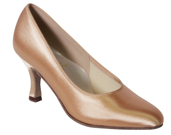 The Vienna Ballroom court shoes are a classic ladies Ballroom dance shoes design with beautiful simplicity. The elegant closed toe shape of these Ballroom dance shoes exude femininity and elegance.