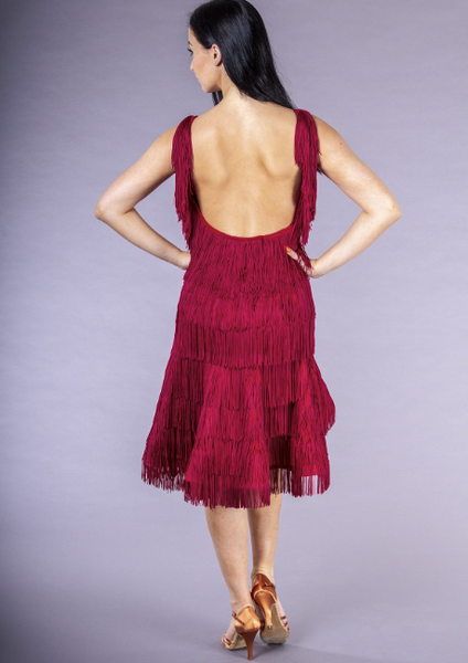 DSI Yuliya Fringe Latin Dress 3251