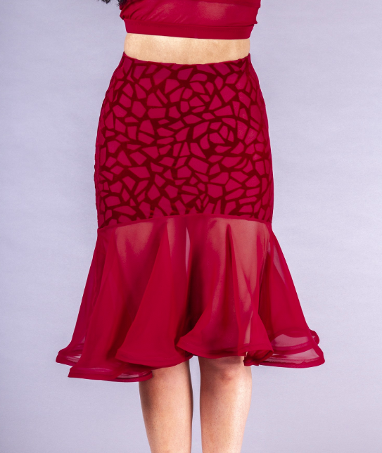 dsi london ladies fit and flare latin dance skirt from dancewear for you australia free shipping