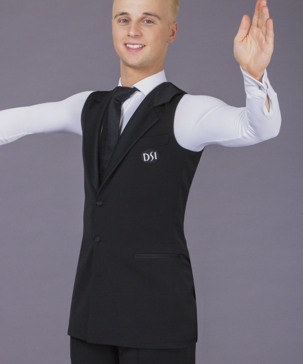 juvenile, junior and adult mens sleeveless ballroom dance and formal waistcoat jacket from dancewear for you australia free shipping, dancesport costume for boys and men