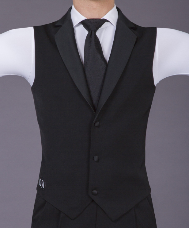 mens black waistcoat from dancewear for you australia free shipping