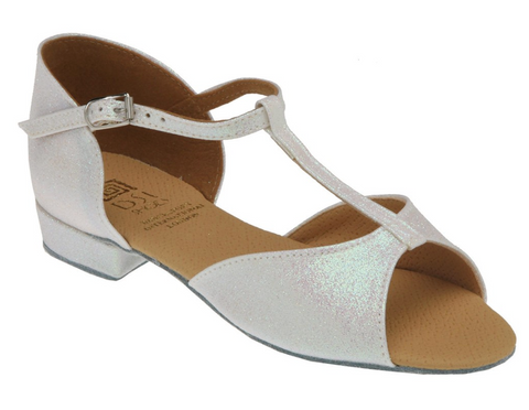 The Blossom Girls Dance Shoe is available in Pink ice with ¾ inch (19mm) Low, 1½ inch (38mm) Cuban and 2 inch (51m) Spanish heels.