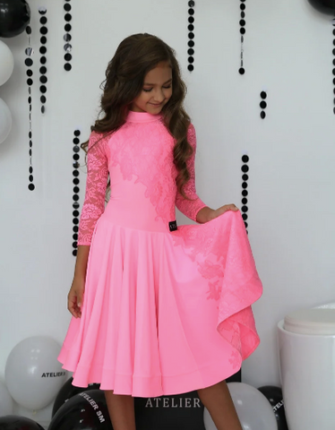 Juvenile Ballroom & Latin Dress created by Atelier SM in Tutti Frutti.  This dress is available in most colours.  Just drop me a line with your selections.  Fabric:  Chrisanne-Clover.  Atelier SM Juvenile Dresses  Stunning, quality Girls Juvenile Ballroom & Latin DanceSport Dresses