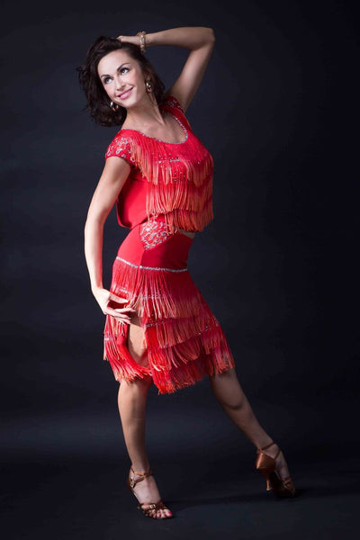 santoria latin fringe top, top with fringe for latin, fringe latin top, fringe samba dance top, fringe dance top for salsa from dancewear for you australia