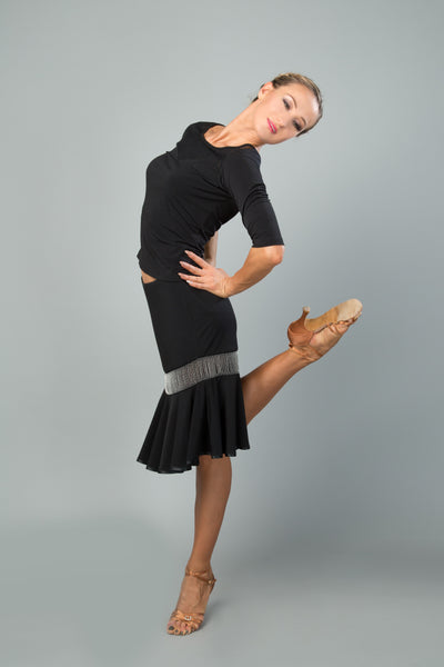 santoria ladies latin dance skirt from dancewear for you australia, latin skirt, salsa skirt, latin dance dress