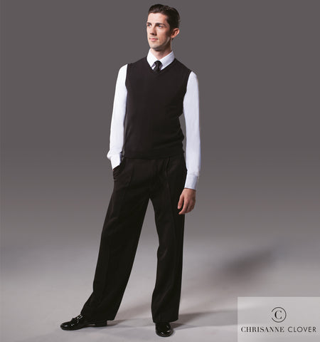 chrisanne clover mens v neck knitted vest from dancewear for you