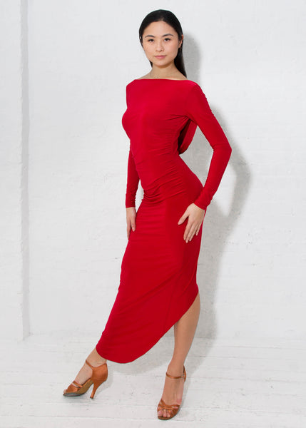 miari long fitted latin and tango dance dress from dancewear for you australia