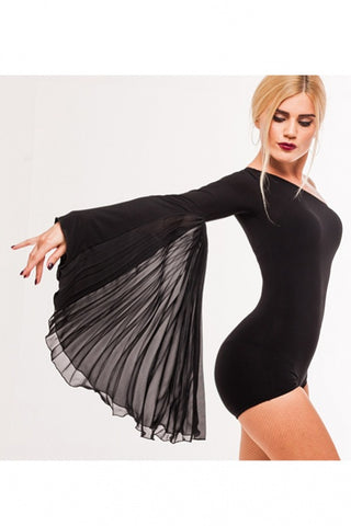 stesh atelier dance leotard with asymmetric design and pleated single sleeve with free shipping from dancewear for you australia and nz