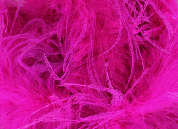 2 Ply Ostrich Boa with Marabou Core from Chrisanne Clover.   Feather length approx 15cm.  Available per 1.8m piece.