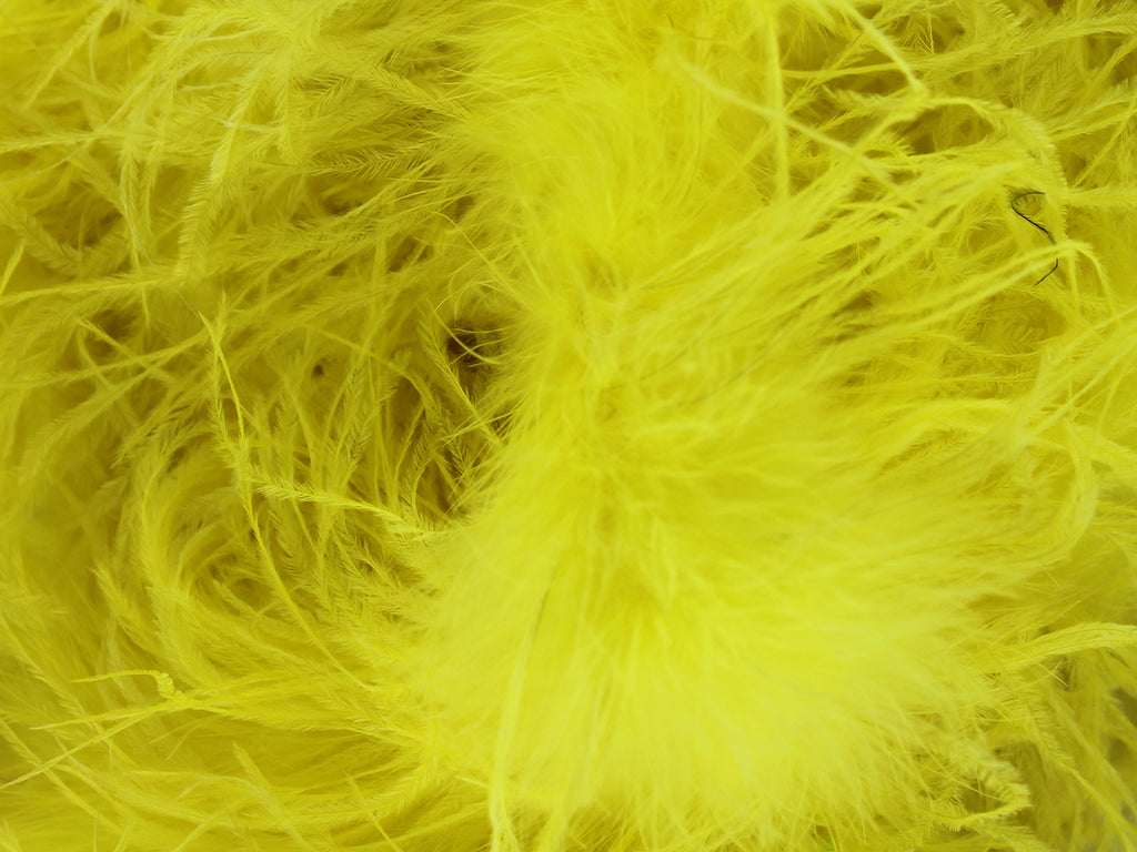 elegant 2 Ply Ostrich Boa with Marabou Core from Chrisanne Clover.   Feather length approx 15cm.  Available per 1.8m piece.