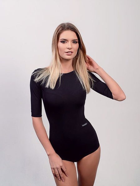 danza by dana spitsyna ladies leotard body suit with 3/4 sleeves and scooped back from dancewear for you australia and nz dancewear