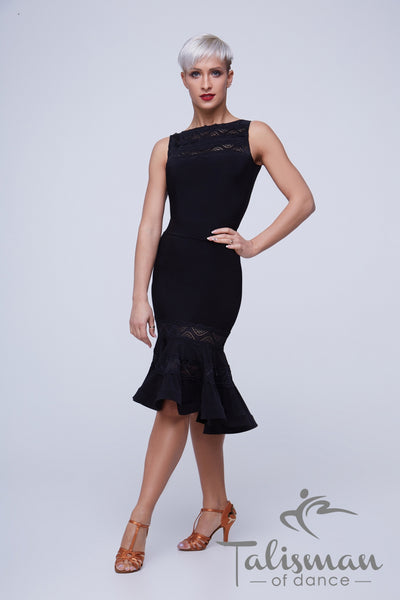 sleeveless top with lace for dancewear, day wear, evening wear and special occasions from dancewear for you australia, black ladies top with lace detail