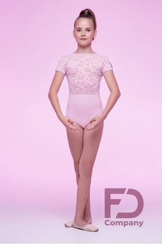 Free Australia-wide shipping.  Best price worldwide with tracking.  Girls leotard for ballet, contemporary, lyrical dance, also great for ballroom & latin paired with a skirt, pants or leggings.  Made using stretch jersey with stretch guipure lace overlaid for a beautiful look.  Boat neckline, capped sleeves.