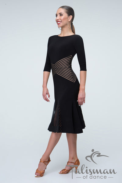 Dress for Latin practice, performance, DanceSport and social dancing or evening and cocktail wear.  A very flattering style for Junior and Youth Dancers from dancewear for you australia