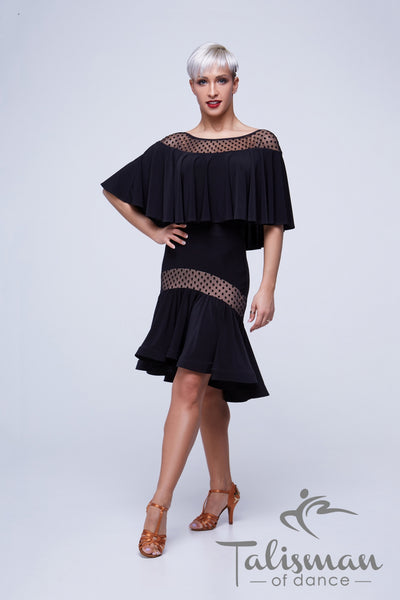Black Body with Wrap Around Cape Design KY-931