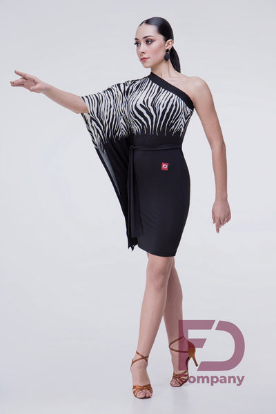 asymmetrical latin dress knee length latin skirt from dancewear for you australia, dancesport latin dress
