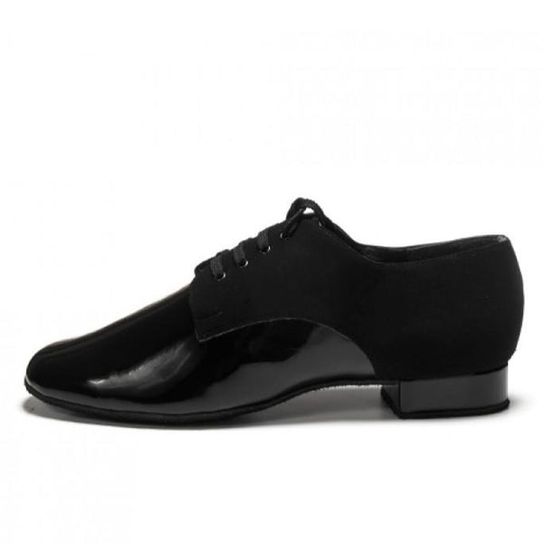 Free Australia-wide shipping  Dance Me Mens & Boys Ballroom & Tango Dance Shoes in Black Patent & Nubuck are perfect for Ballroom & Tango performance and competition.  So comfy with flexible suede sole.  2cm Ballroom Heel.