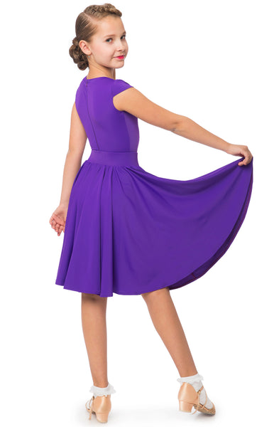 sasuel girls juvenile ballroom and latin dance dress with capped sleeves from dancewear for you australia