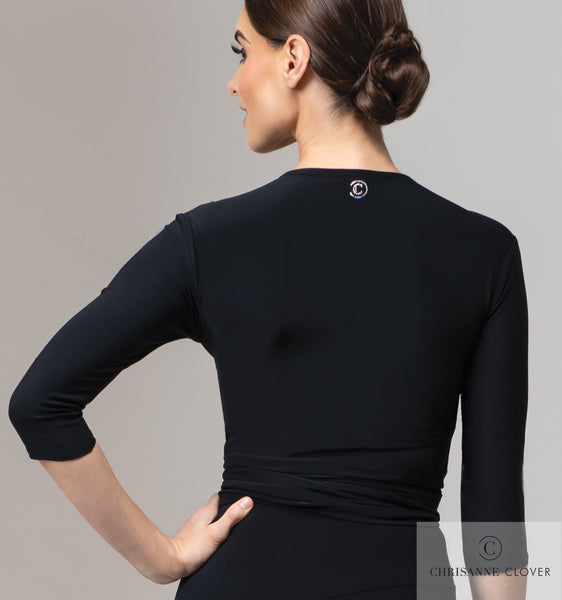 Heavenly Wrap Top is a chic, classic practice top that has become a dancer's wardrobe staple. This versatile practice piece can be tied into several positions to suit your style, making it work for you and your performance. Made from CHRISANNE CLOVER Luxury Crepe. free shipping dancewear for you australia in perth