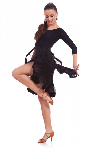 sasuel latin dance skirt from dancewear for you australia, latin skirt, salsa skirt, dance skirt australia