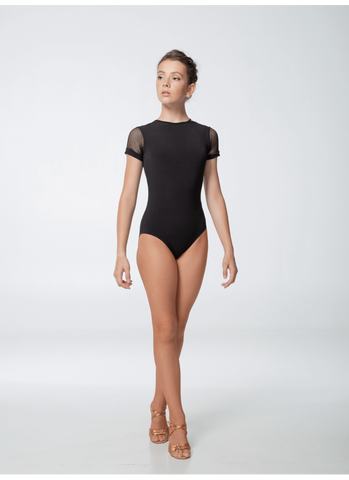 Leotard with Mesh Short Sleeves K446KP-17