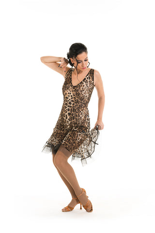 Victoria Blitz Latin & Cocktail Dress LA011 Leopard Print