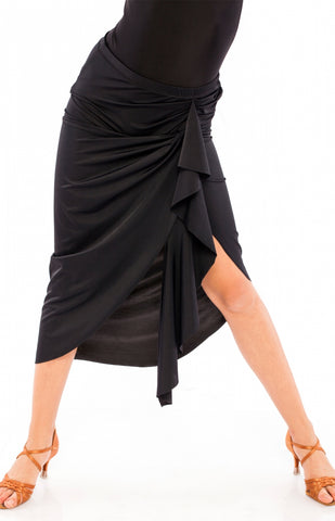 sasuel latin dance skirt with wrap style from dancewear for you australia, latin skirt, salsa skirt, dance skirt australia