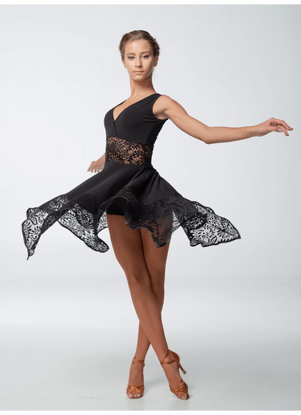 latin or contemporary style dance dress sleeveless dress with lace empire waistline and full skirt dancewear for you australia free shipping