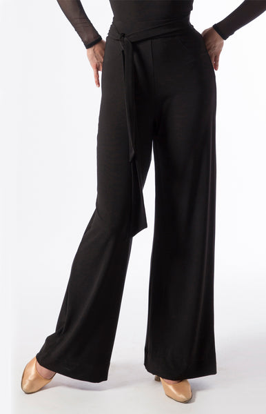 comfortable, loose practice trousers from luxury crepe fabric, perfect for ballroom practice, social dance or day wear and evening wear from dancewear for you australia and sasuel costume design