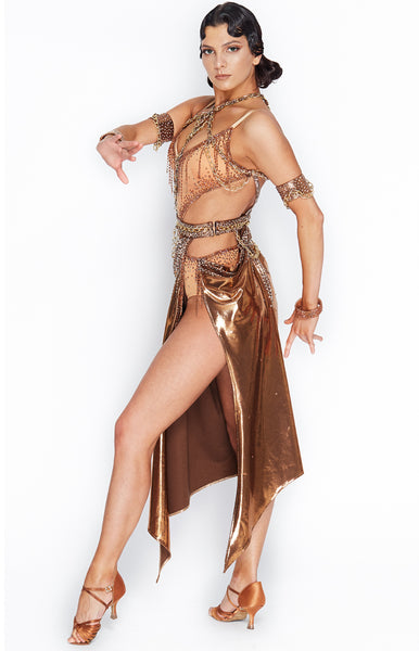 Sasuel Copper Latin Competition Dress