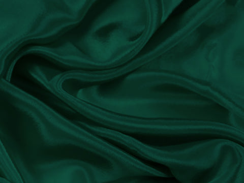 Satin Chiffon Forest Green