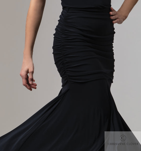 Chrisanne Clover Sicily Ballroom Skirt in Black from dancewear for you in perth free shipping australia