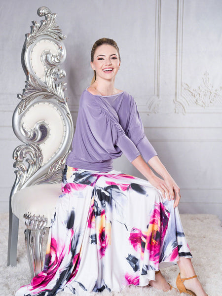 Dance America Long Tulip Ballroom Skirt S001