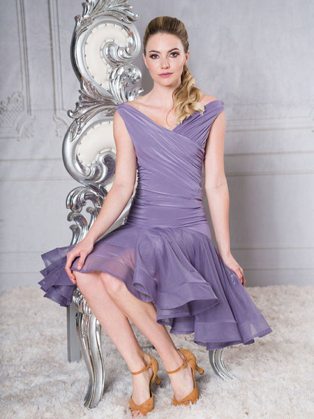 FREE AUSTRALIA-WIDE SHIPPING with tracking!  Knee length powermesh ballroom latin skirt with extended saddle provides a stunning shape.  You will look like you are walking on a cloud!  Perfect for special occasions, competition, evening wear or performance!