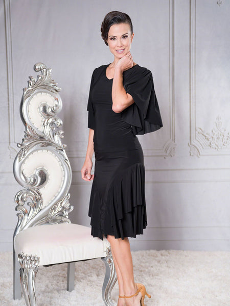FREE AUSTRALIA-WIDE SHIPPING with tracking!  This classic simple skirt features a double ruffle.  An elegant staple for any wardrobe, full of movement.  Perfect for lessons, competition, evening wear or performance!