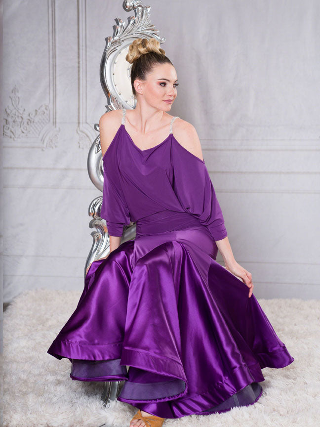 ballroom dance skirt australia.FREE AUSTRALIA-WIDE SHIPPING with tracking!  2 full circles of charmeuse adds femininity to this ankle length stunner!  This skirt will shimmer and shine all day and night.  Perfect for evening wear, competition or performance!