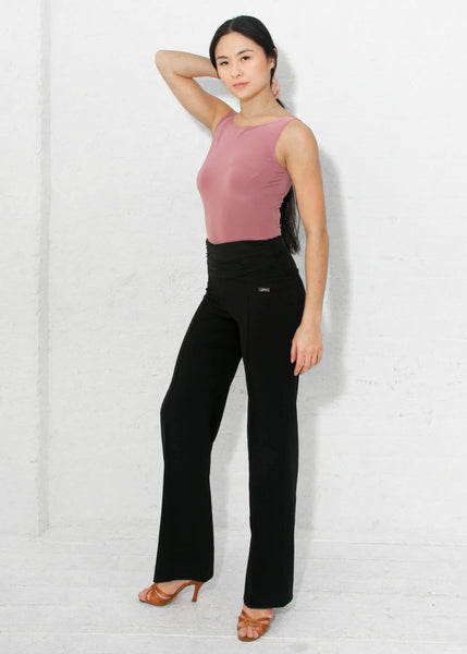 miari new york ladies vanessa pants for day wear ladies trousers with stretch rouched waist, ruched waisted pants for dancewear australia free shipping