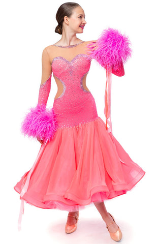 This stunning, fully completed, ready to wear Junior Ballroom DanceSport Competition Dress can be created in any colour and size.   Australian owned and run business here in Perth - personal service, experience, dedication.