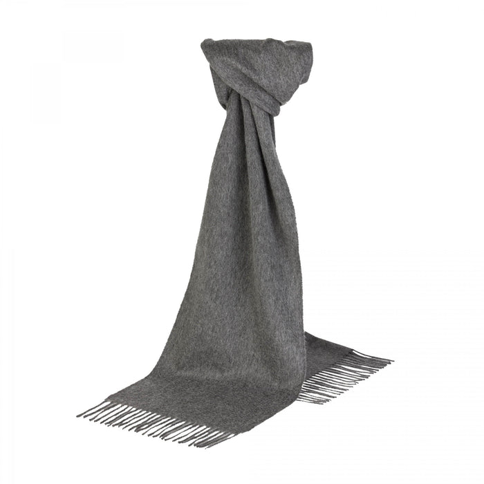 Solid Grey Cashmere Scarf