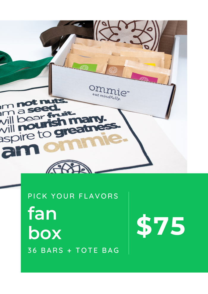 FAN BOX: 36 bars + tote bag (Farmers Market Pre-Order)