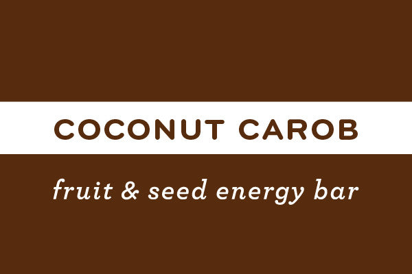 Coconut Carob | Gluten Free Nut Free Vegan Energy Bar - ommiesnacks.com