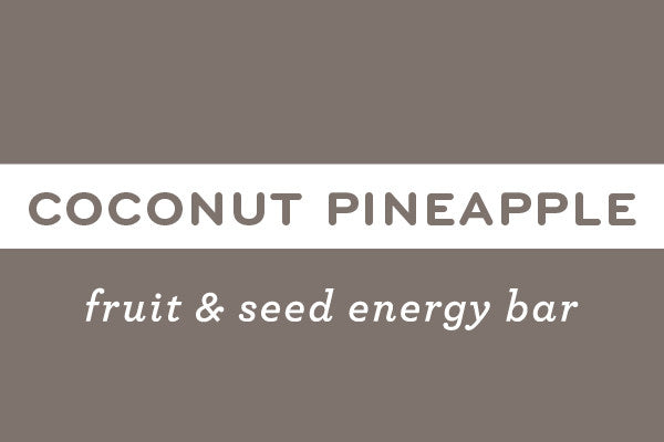 Coconut Pineapple  | Gluten Free Nut Free Vegan Energy Bar - ommiesnacks.com