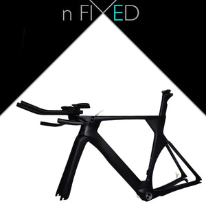 nFIXED 'Aero' Time Trial Triathlon TT/Tri carbon Frame-Set
